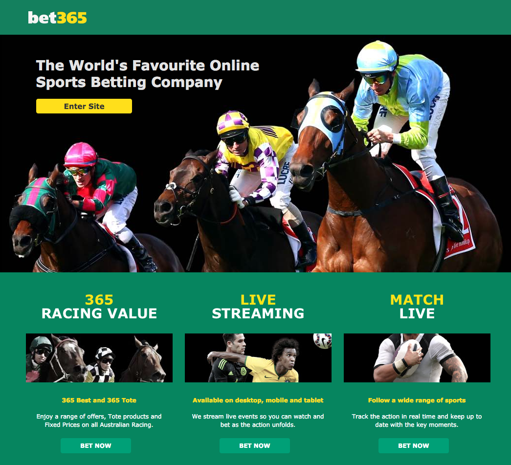 bet365 Landing Page