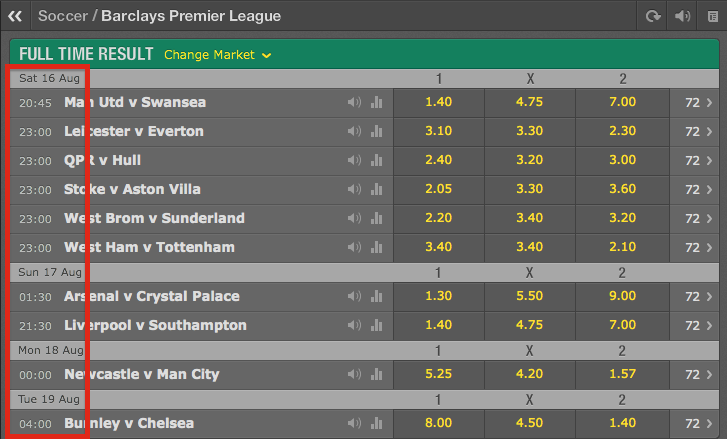 bet365 Game Time