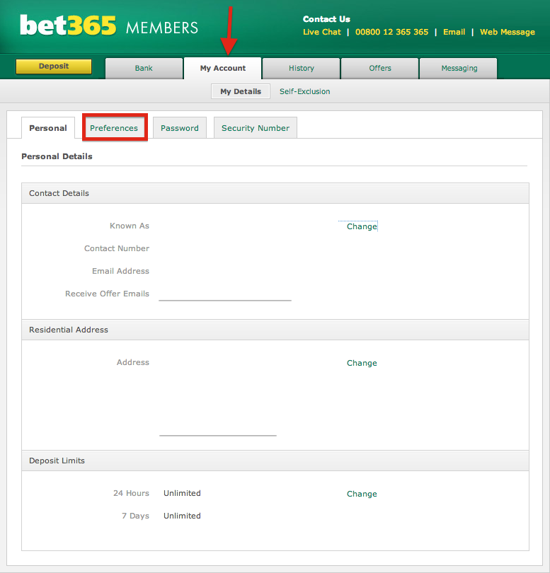 Bet365 Contact Email