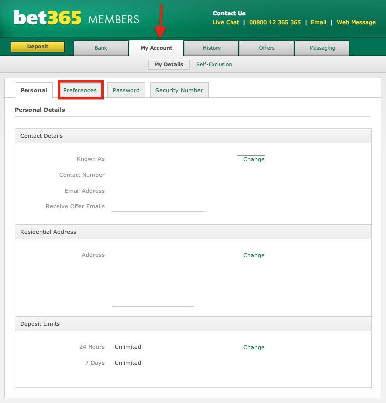 bet365 My Account