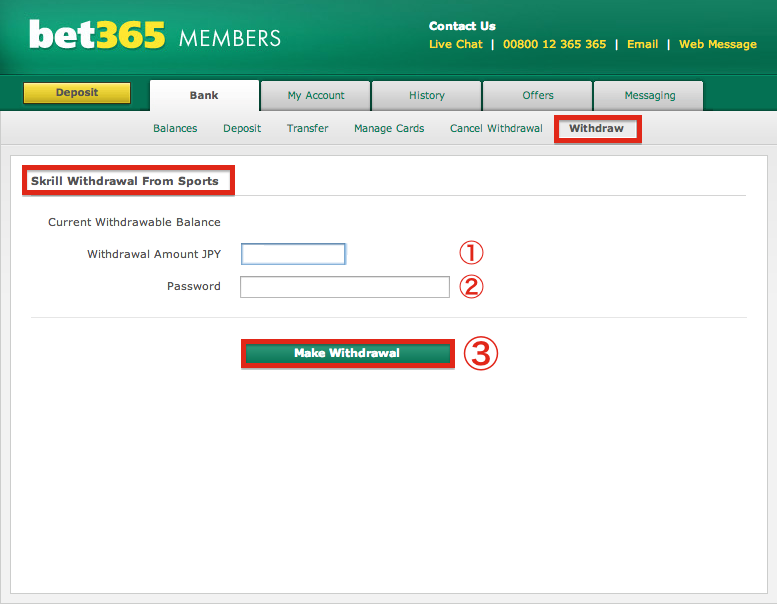 bet365 my account