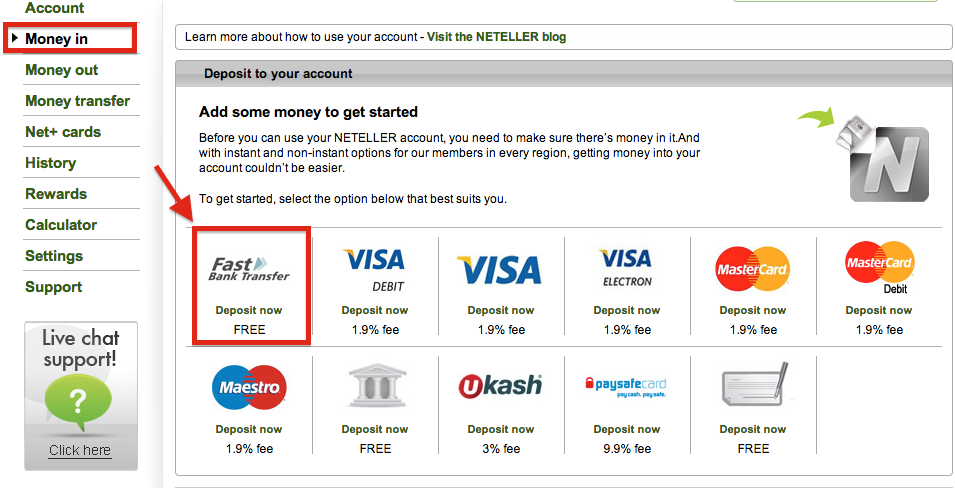 How to Deposit into My NETELLER Account