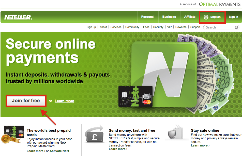 NETELLER Registration
