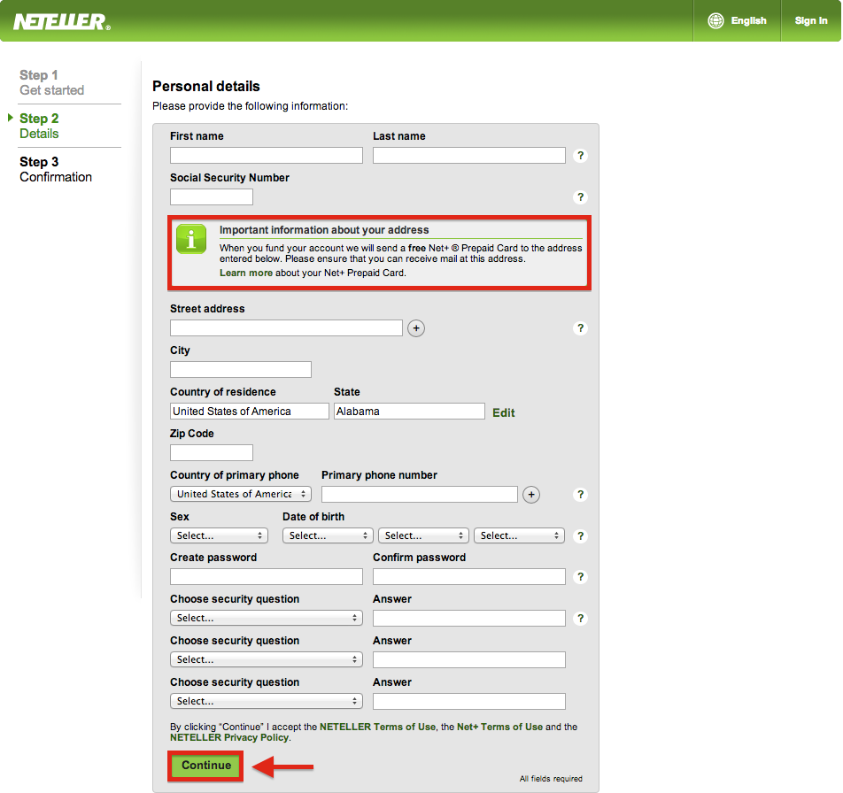 create neteller account