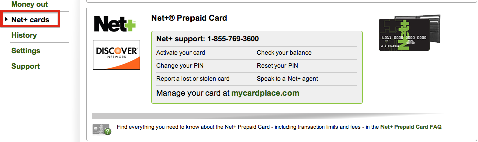 NETELLER Withdrawal Net+ Prepaid Card USA Resident