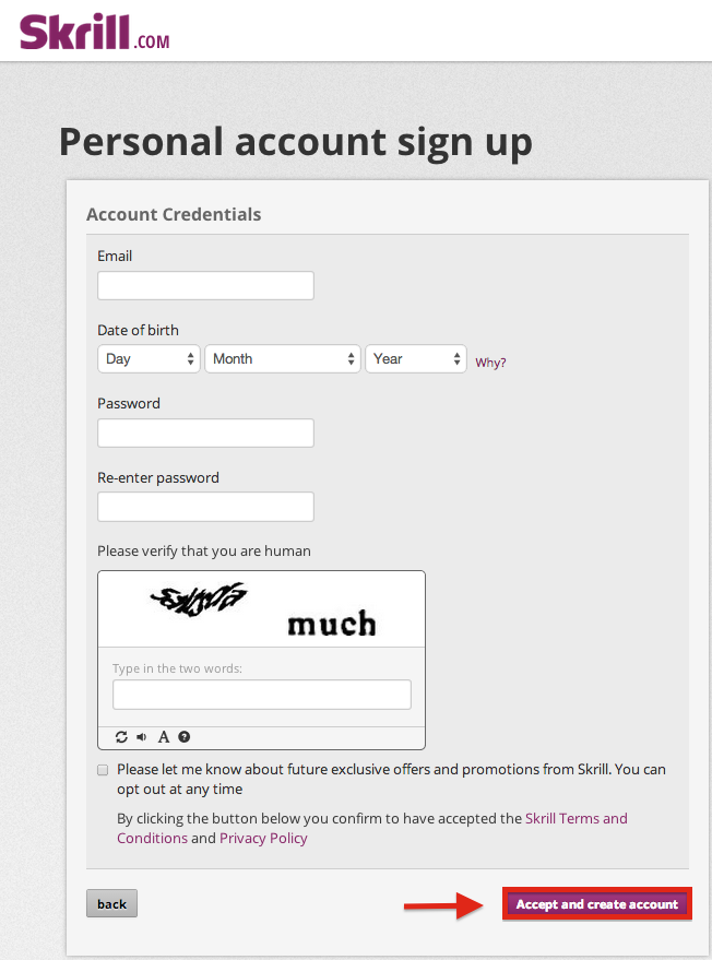 Skrill Registration