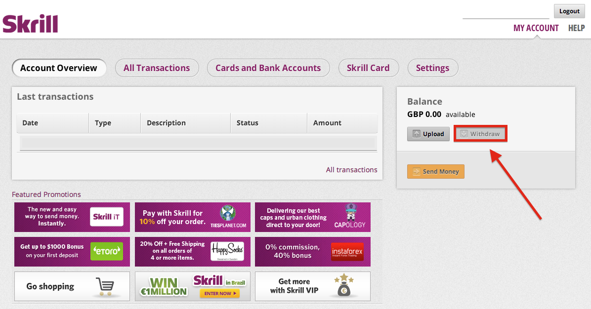 skrill my account
