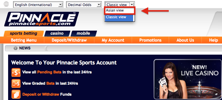 Pinnacle Sports Asian View Sports Betting