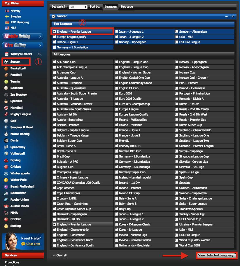 10Bet England Premier League