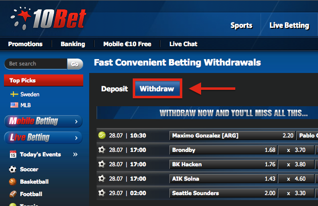 10Bet Withdrawal