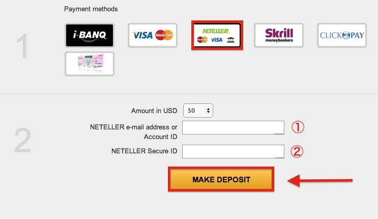 NetBet NETELLER Deposit