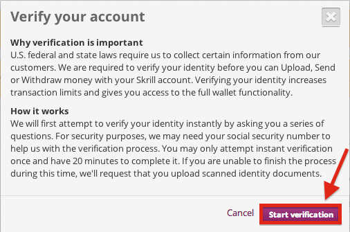Skrill Verify Your Account