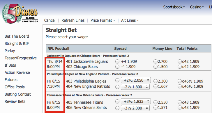 How to Place Bets on 5Dimes
