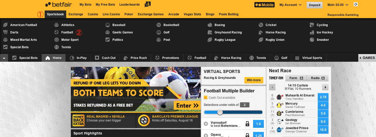 Betfair Football/Soccer