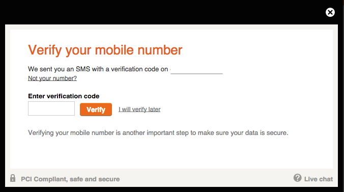 Betsson Registration Verify Mobile Number