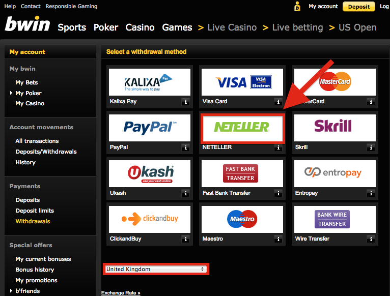 Bwin NETELLER Withdrawal