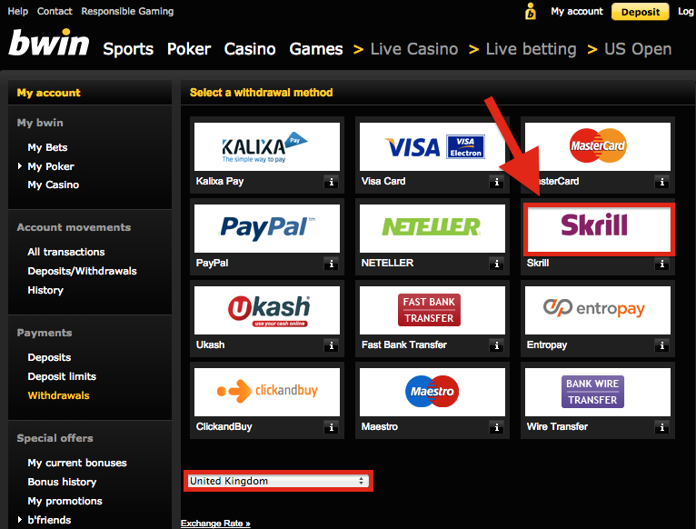 Bwin Skrill Withdrawal