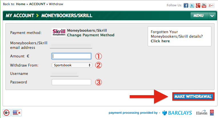 Paddy Power Skrill Withdrawal