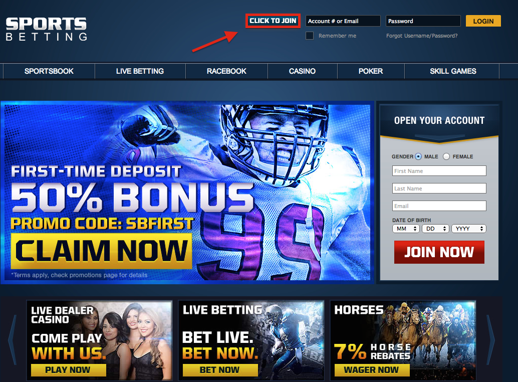 SportsBetting Registration