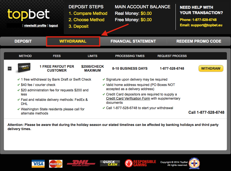 Topbet Customer Service