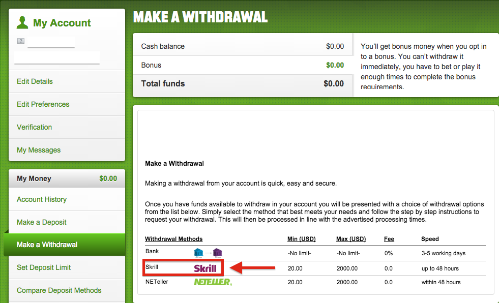 Unibet Skrill Withdrawal