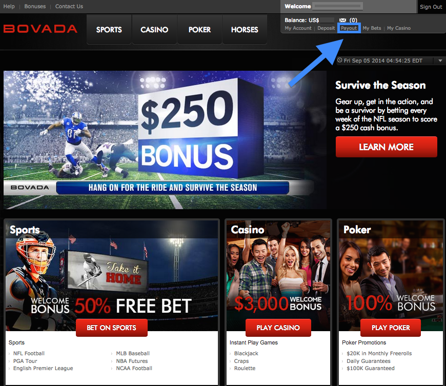 How To Withdraw From Bovada