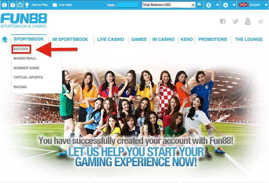 Fun88 Sportsbook - Soccer