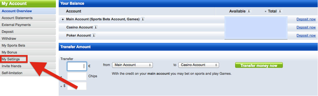 mybet My Account