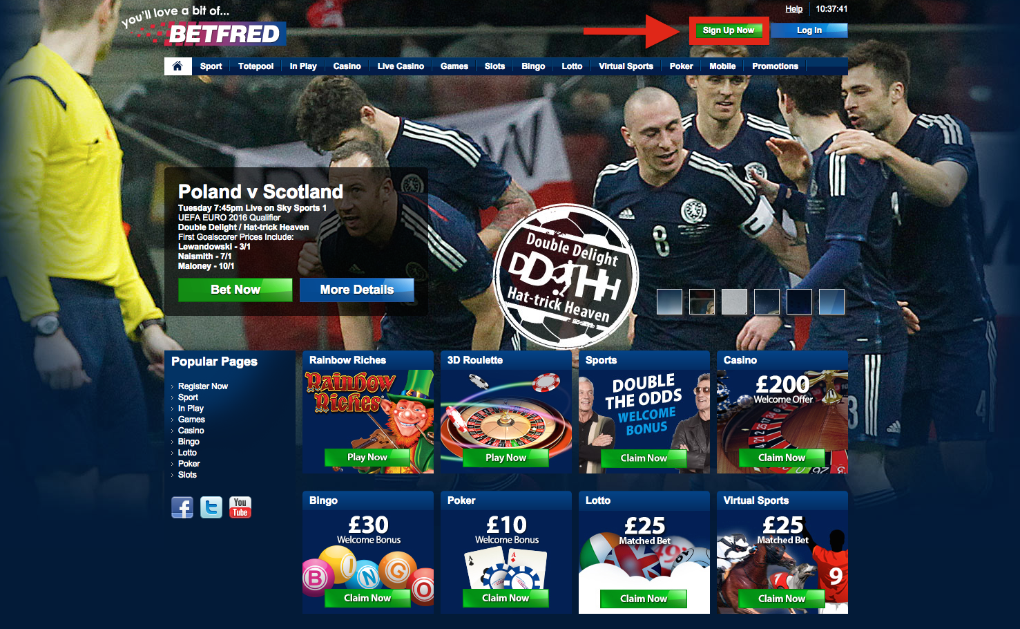 Betfred Registration