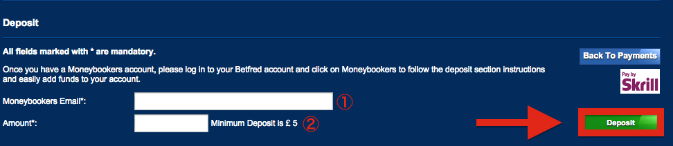 Betfred Skrill Deposit