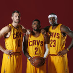 Kevin Love, Kyrie Irving & LeBron James