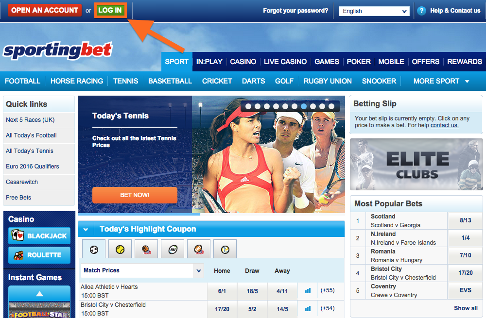 Sportingbet Login