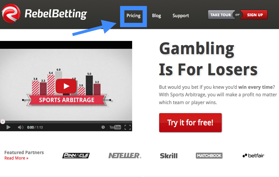 RebelBetting Pricing