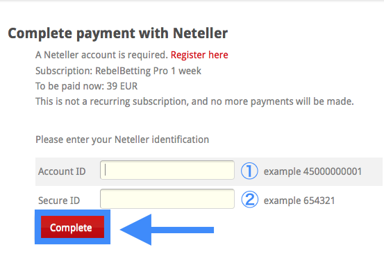 RebelBetting Pro Trial Sign-Up via Neteller