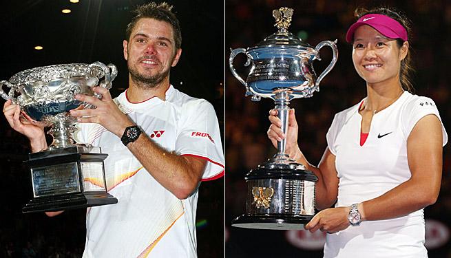 2014 Australian Open Singles Winners: Stanislas Wawrinka & Li Na