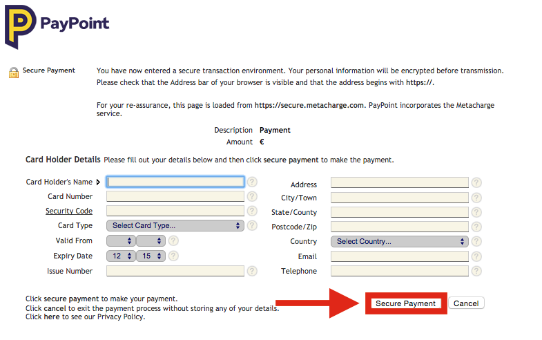 Purchase a BetOnValue Subscription Plan via PayPoint