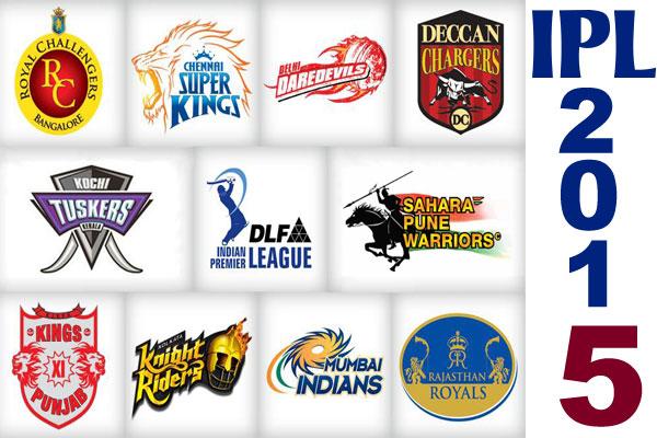 2015 Indian Premier League Teams