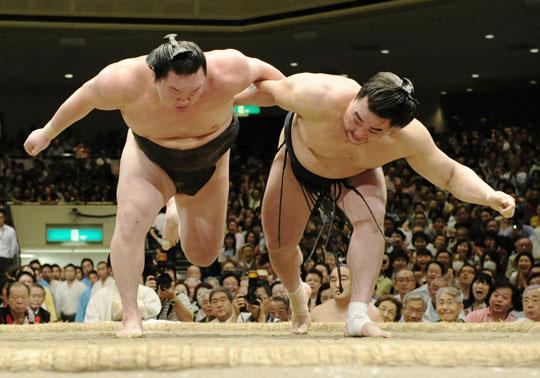 Harumafuji-Hakuhō Bout
