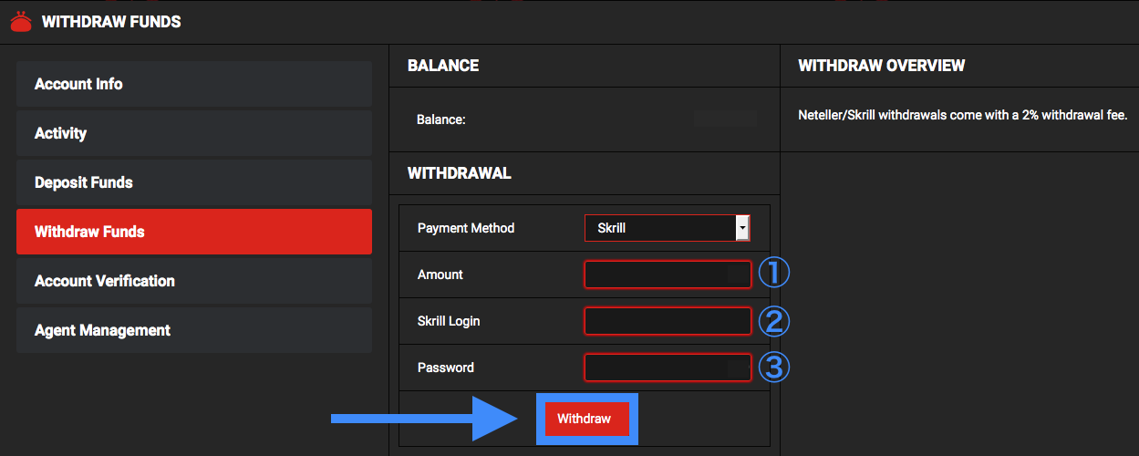 VitalBet Skrill Withdrawal