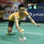 Malaysian Men's Singles Player Lee Chong Wei Diving