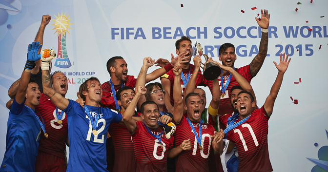 2015 FIFA Beach Soccer World Cup Champions - Portugal