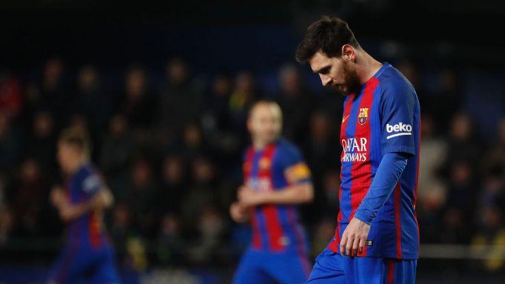 Pemain Barcelona Lionel Messi