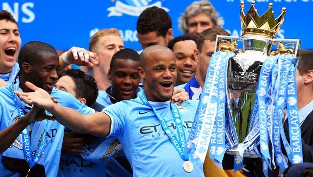 Pemain Manchester City Vincent Kompany