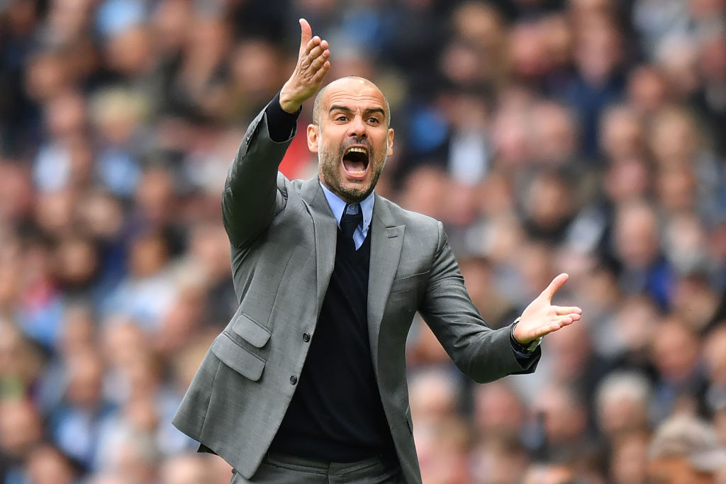 Manajer Manchester City Pep Guardiola
