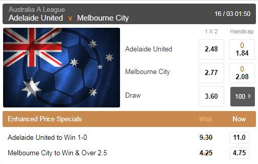 Enhanced Soccer Odds