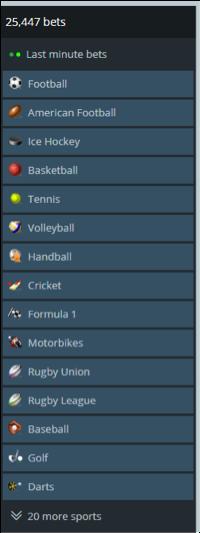 Sportsbook Categories
