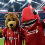 Bayern Munich & Liverpool Mascots