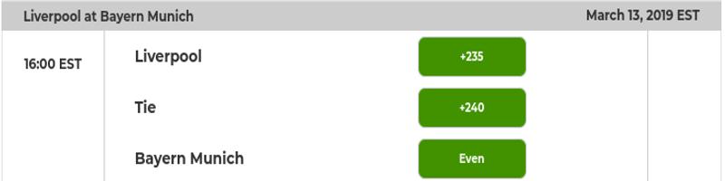 Liverpool vs. Bayern Odds