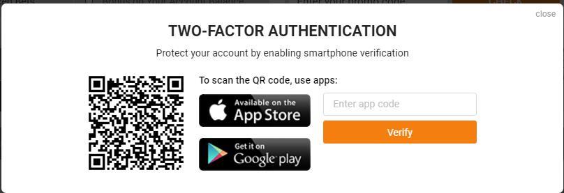 1xBit Two Factor Authentification