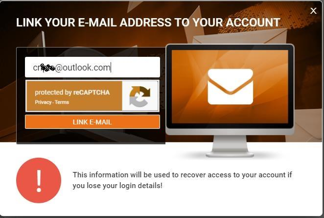 1xBit Confirmation E-mail
